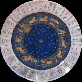 imagen con los simbolos del zodiaco y las casas