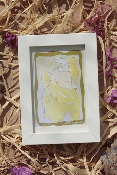 lamina enmarcada arcángel Jofiel rayo amarillo