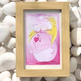 lamina enmarcada arcángel del rayo rosa Chamuel