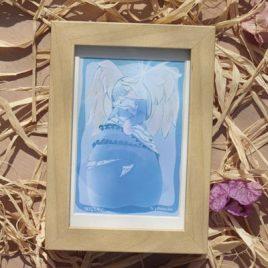 arcangel miguel cuadro enmarcado