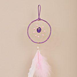 atrapasueños color violeta y rosa