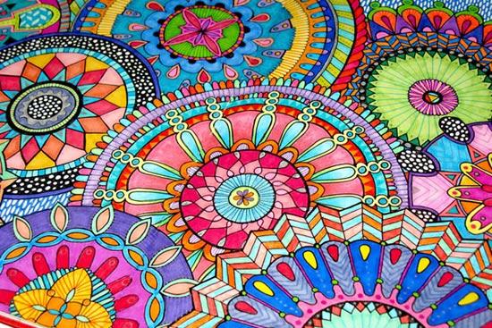 mándalas, colores