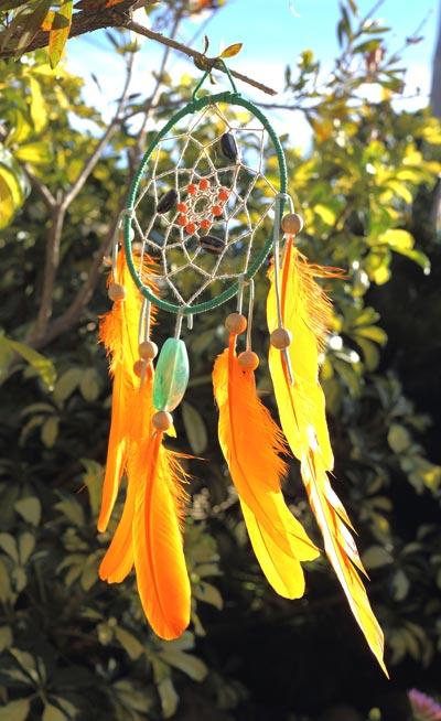 Atrapasueños color naranja