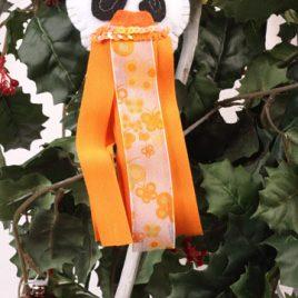 Ángel naranja de fieltro
